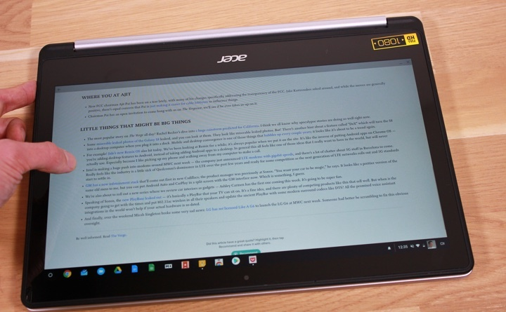 Acer Chromebook R 13 read
