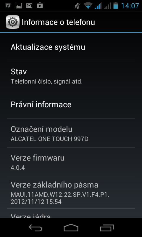 Alcatel One Touch 997D Ultra