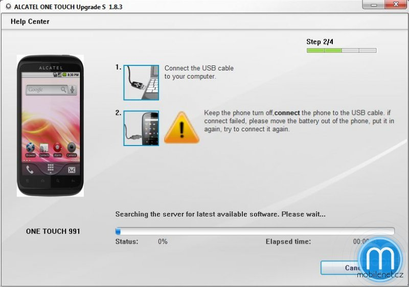 Alcatel One Touch Upgrade Tool
