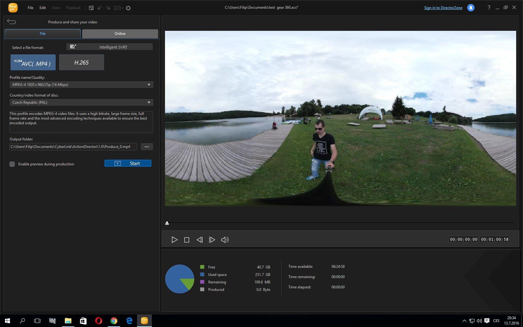 Aplikace pro Windows - Samsung Gear 360 Action Director