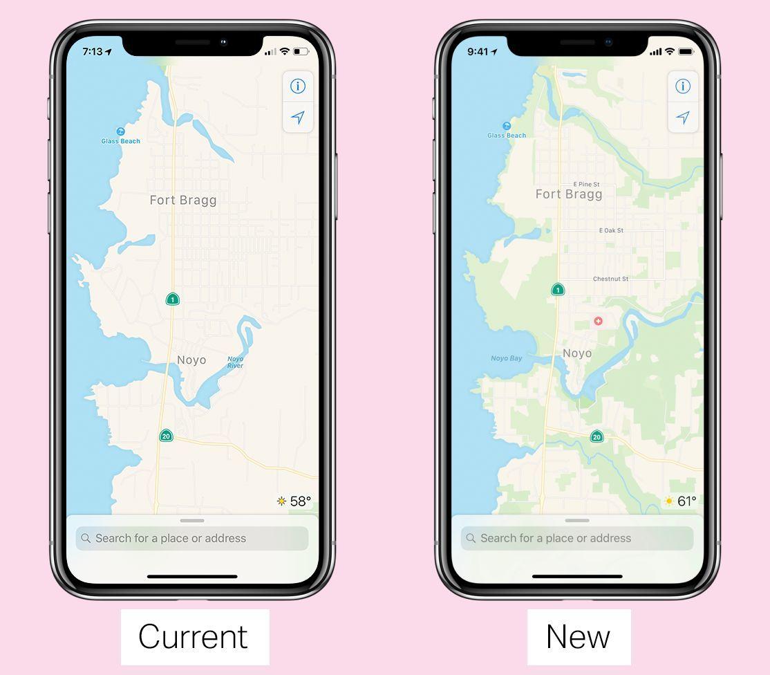 Apple Mapy nové