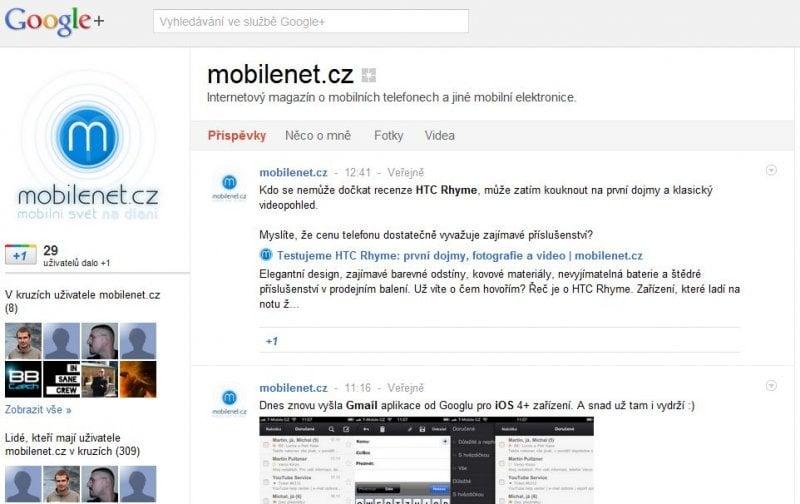 Google+ mobilenet.cz