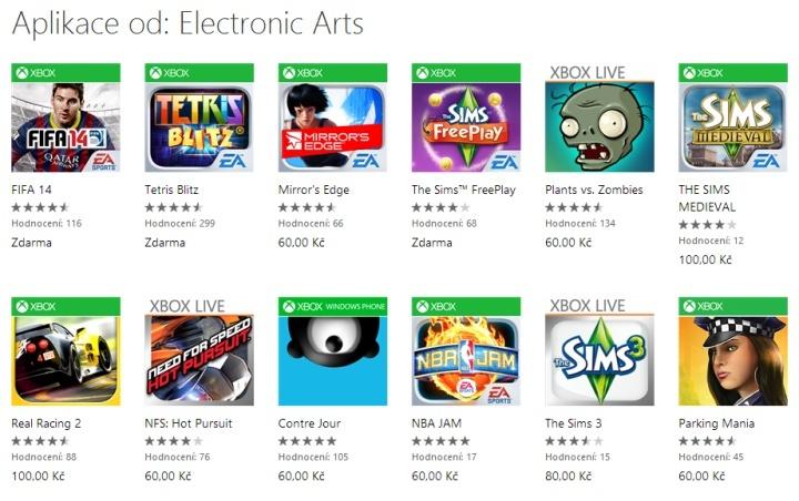 Hry od EA
