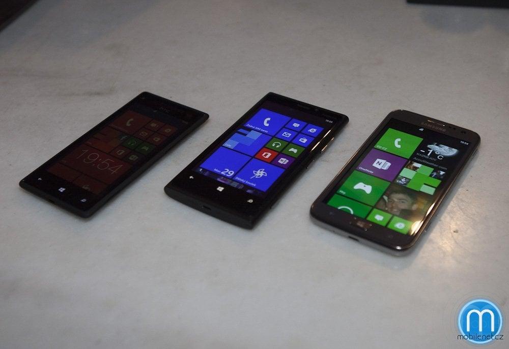 HTC 8X, Nokia Lumia 920 a Samsung ATIV S