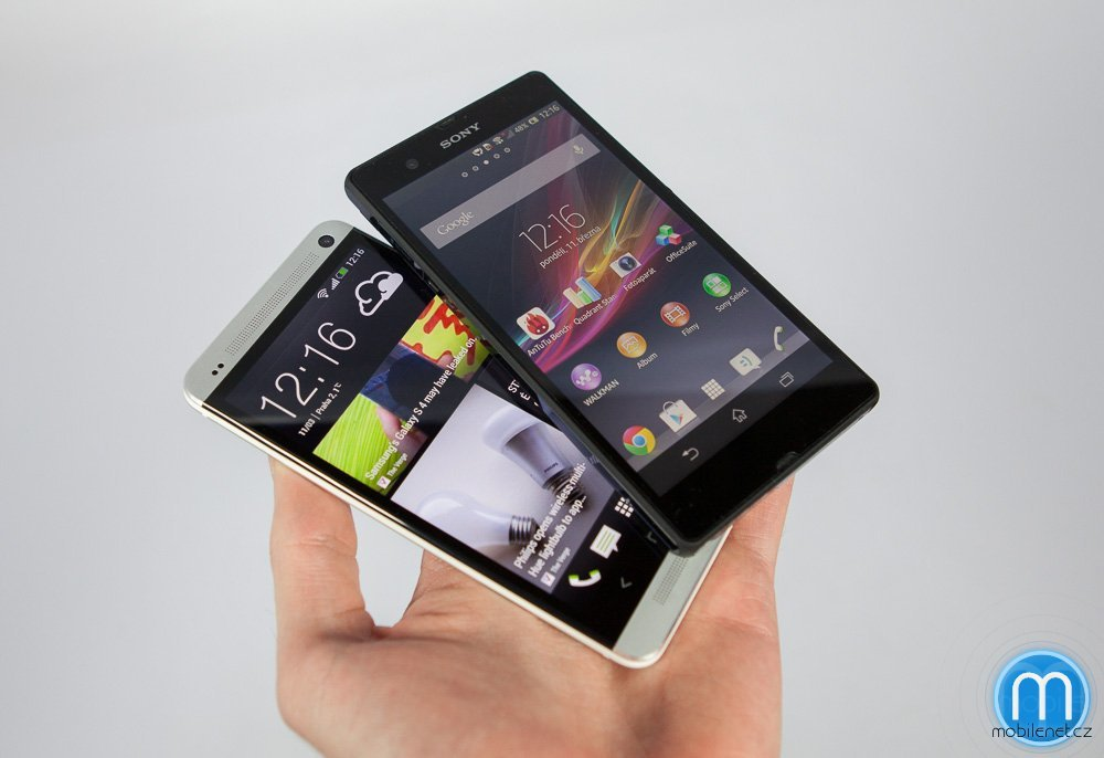 HTC One a Sony Xperia Z