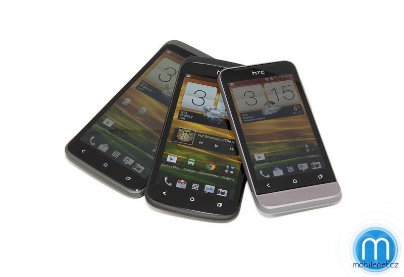 HTC One X, S a V