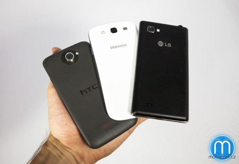 HTC One X vs. LG Optimus 4X HD vs. Samsung Galaxy S III