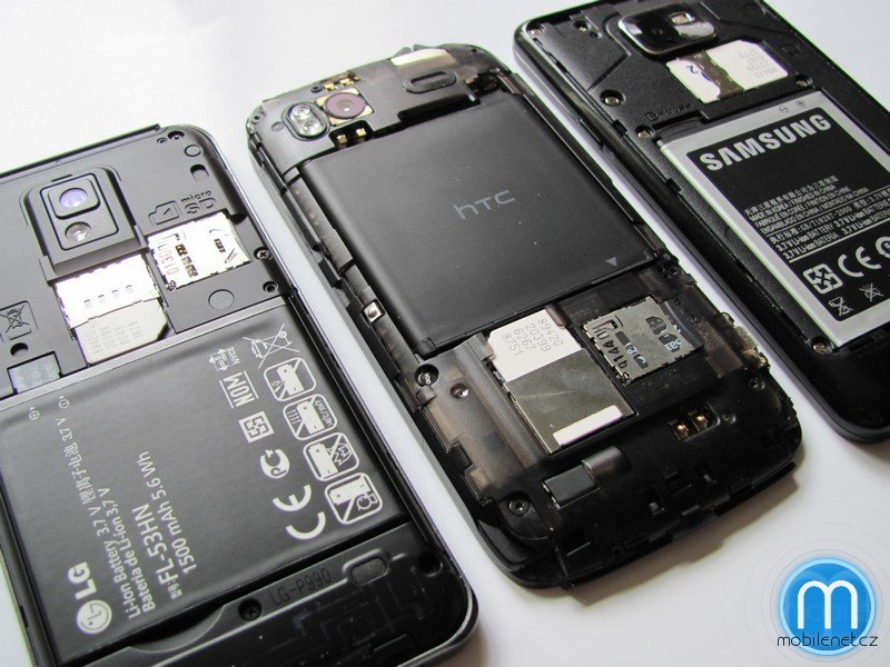 HTC Sensation, LG Optimus 2X, Samsung Galaxy S II