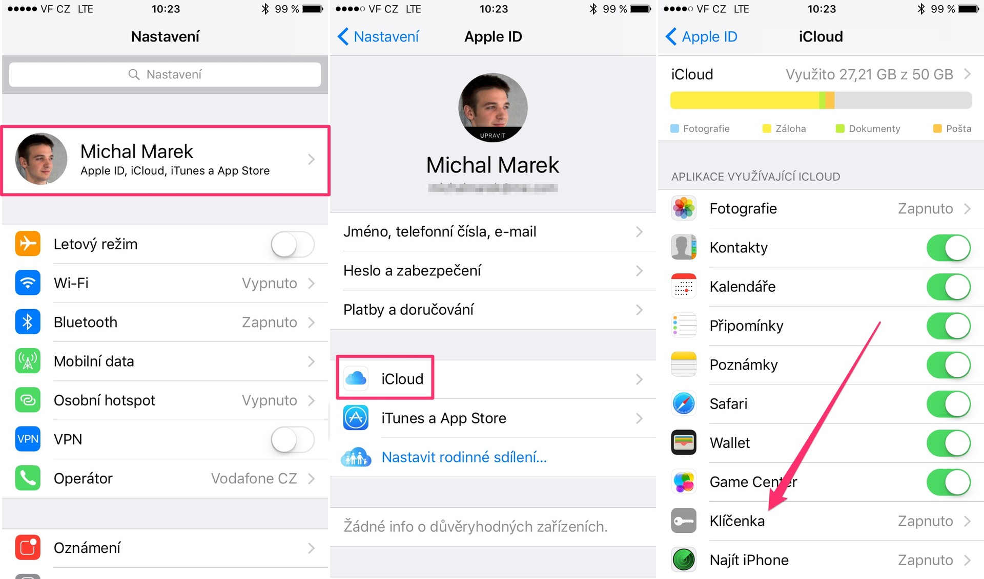 iCloud keychain 1