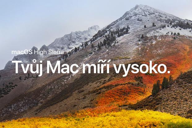 macOS High Sierra nainstalujete na stejné stroje jako původní Sierru