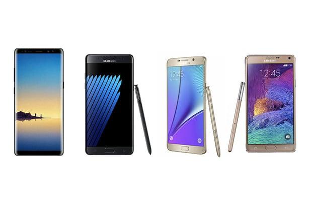 Velké mezigenerační srovnání: Galaxy Note8 vs. Note 7, Note 5 a Note 4