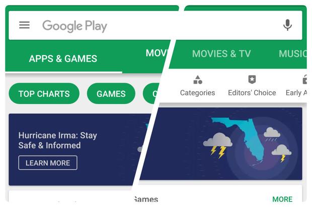 Nový design Obchodu Google Play jde do světa