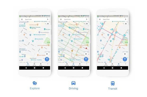 Google Mapy vylepší svůj vzhled, důraz bude kladen na přehlednost