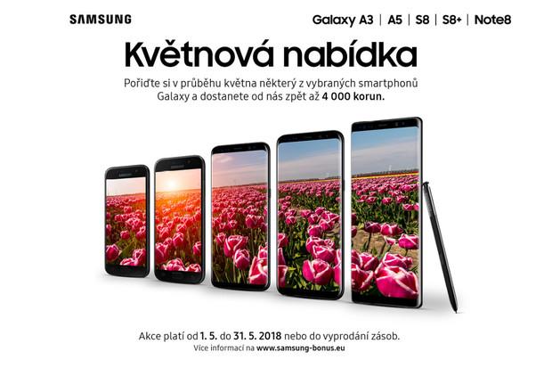 Akce u Samsungu nikdy nekončí. Ušetřit můžete nákupem Galaxy S8, A5 a A3