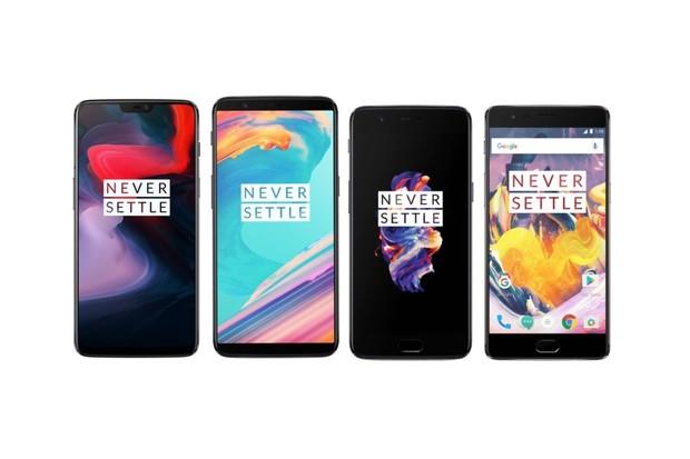 Nové OnePlus 6 vs. předchůdci OnePlus 5T, 5 a 3T