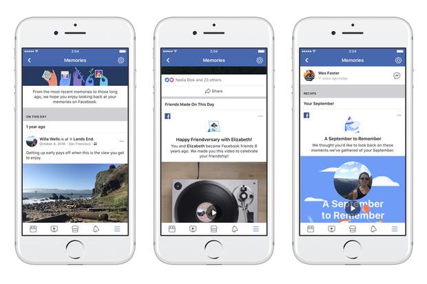 Facebook Memories připomenou a sjednotí důležité životní situace