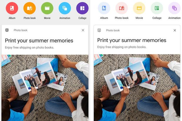 Fotky Google v Material Designu 2.0 jsou zaoblenější i pastelovější