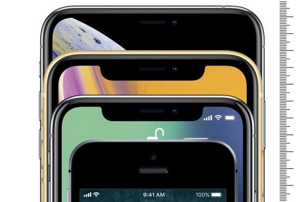 Srovnali jsme pro vás velikost všech iPhonů. Za 11 let pořádně narostly