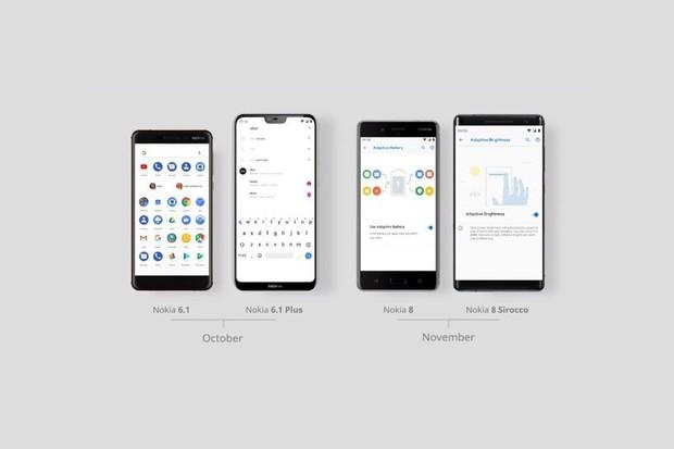 HMD Global rozbíhá aktualizaci na Android 9.0 Pie. První na řadě jsou Nokie 6.1