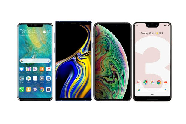 Huawei Mate 20 Pro vs. Galaxy Note9, iPhone Xs Max a Pixel 3 XL