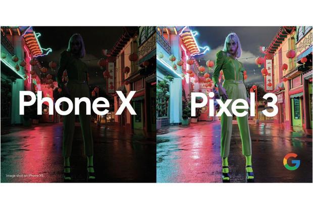 """Reklamní kampaň Googlu srovnává výsledky focení Pixelu 3 s tajemným """"Phonem X"""""""