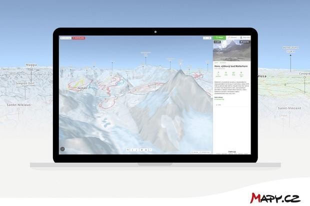 Mapy.cz představují turistické mapy ve formě plastického 3D modelu pro zimu i léto