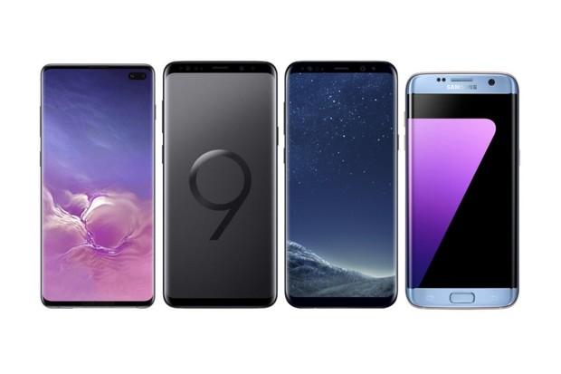 Samsung Galaxy S10+ vs. Galaxy S9+, Galaxy S8+ a Galaxy S7 edge
