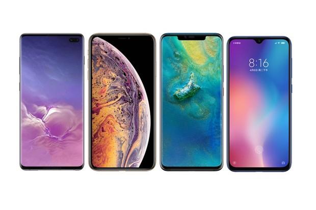 Samsung Galaxy S10+ vs. iPhone Xs Max, Mate 20 Pro a Xiaomi Mi 9