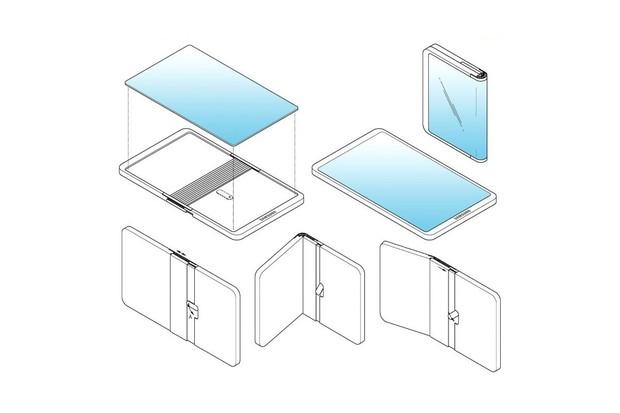 Samsung si patentoval další skládací telefon. Tentokrát ohne opačně