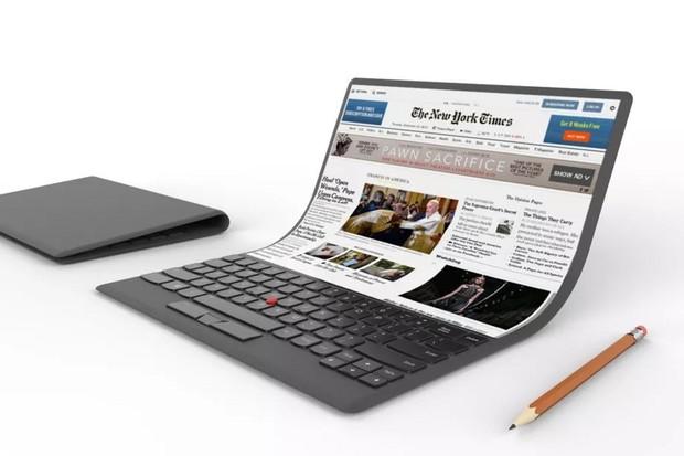 Patent Lenova ukazuje, jak by mohl vypadat notebook s ohebným displejem