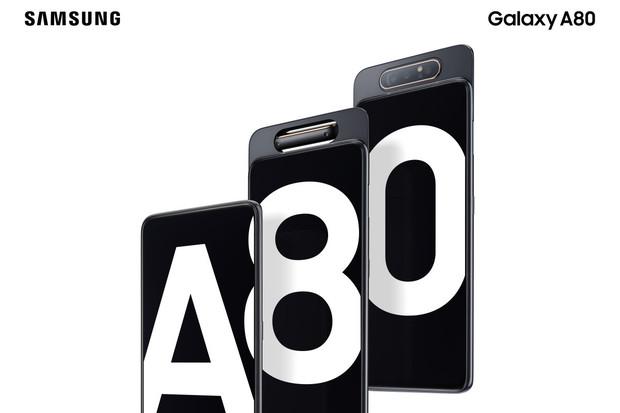 Žasněte. Samsung Galaxy A80 má výsuvnou konstrukci a trojitý otočný fotoaparát