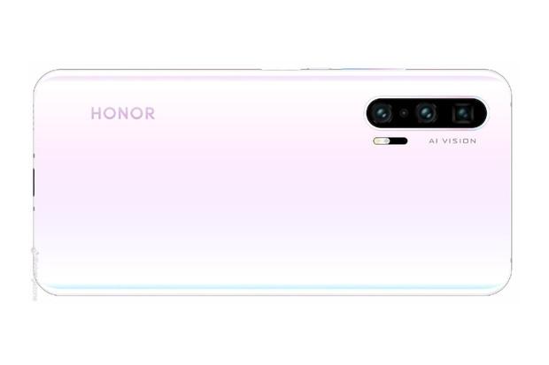 Líbivý Honor 20 Pro uniká v gradientní bílé s růžovým nádechem
