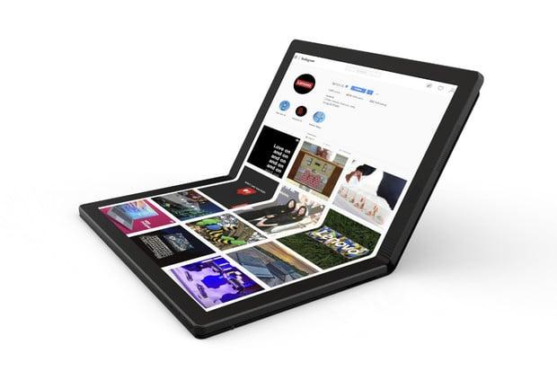Lenovo představilo první laptop s ohebným displejem na světě. Dorazí v roce 2020