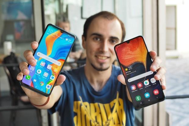Huawei P30 Lite vs. Samsung Galaxy A50: dva nesmiřitelní rivalové