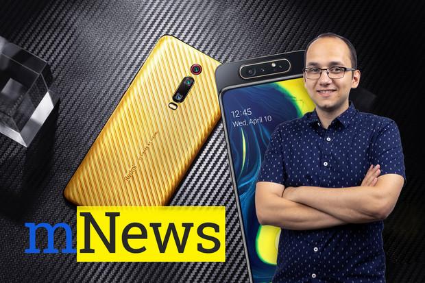 Telefon ze zlata, otáčecí Samsung a další zprávy týdne