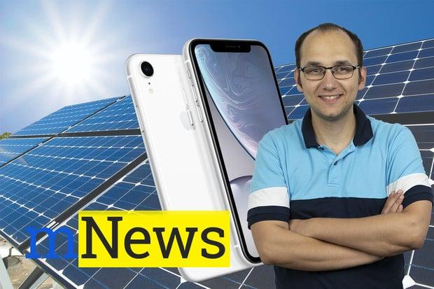 Telefon se solárním panelem a novinka pro iPhony