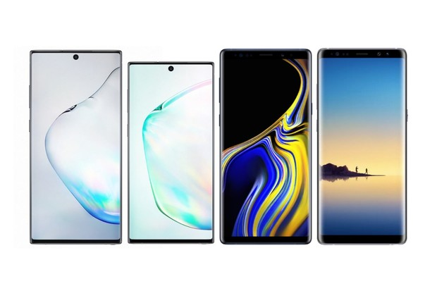Samsung Galaxy Note10+ a Galaxy Note10 vs. Note9 a Note8