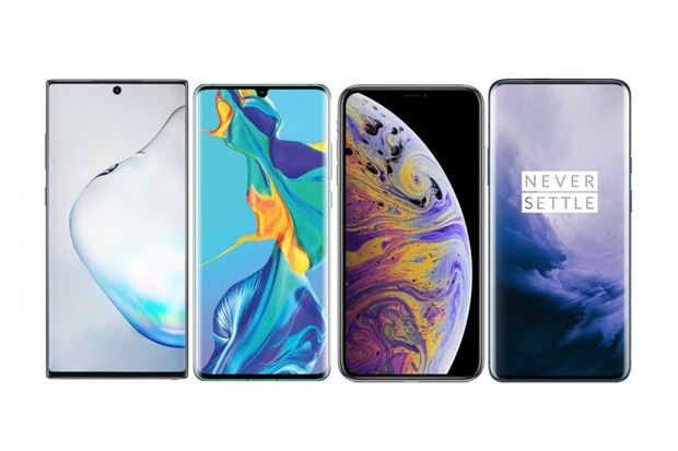 Samsung Galaxy Note10+ vs. Huawei P30 Pro, iPhone Xs Max a OnePlus 7 Pro