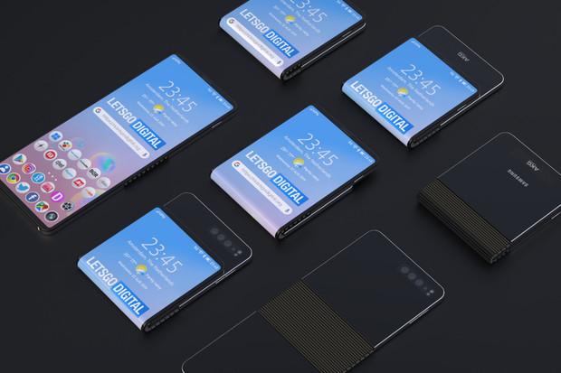 Samsung si patentoval ohebný telefon spodlouhlým displejem a masivním kloubem