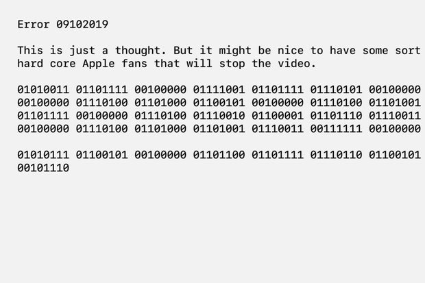 2minutové video Apple Keynote obsahuje tajemný kód ukrytý v jedničkách a nulách
