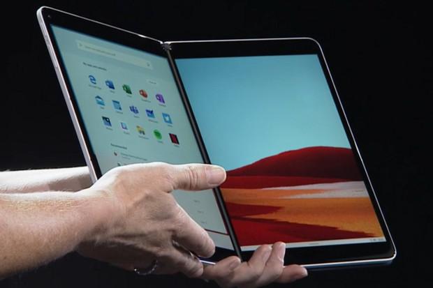 """Ohebný Microsoft Surface Neo spojuje dva 9""""displeje a běží na Windows 10X"""