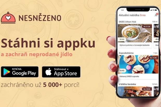 Aplikace na záchranu jídla Nesnězeno.cz se rozšiřuje do dalších měst