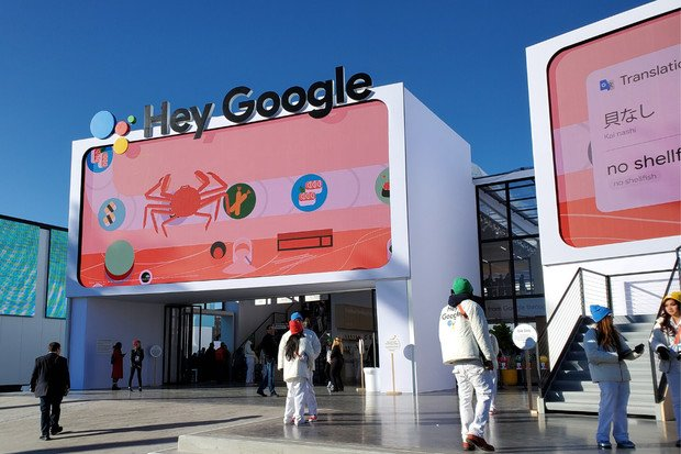 Google na CESu 2020: skluzavky, Google Stadia iobří herní automat
