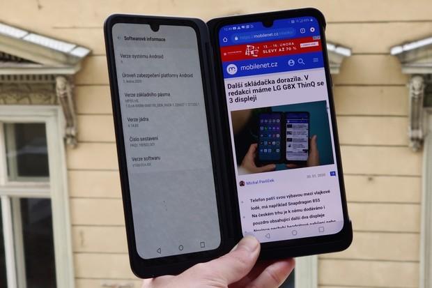 Na LG G8X ThinQ dorazily nové bezpečnostní záplaty. Následovat bude Android 10