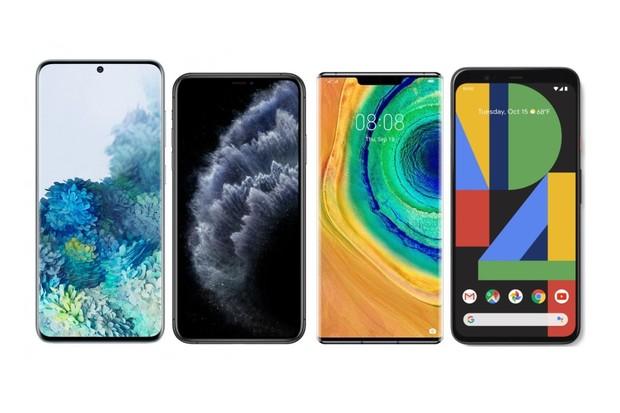 Samsung Galaxy S20 Ultra vs. iPhone 11 Pro Max, Mate 30 Pro a Pixel 4 XL