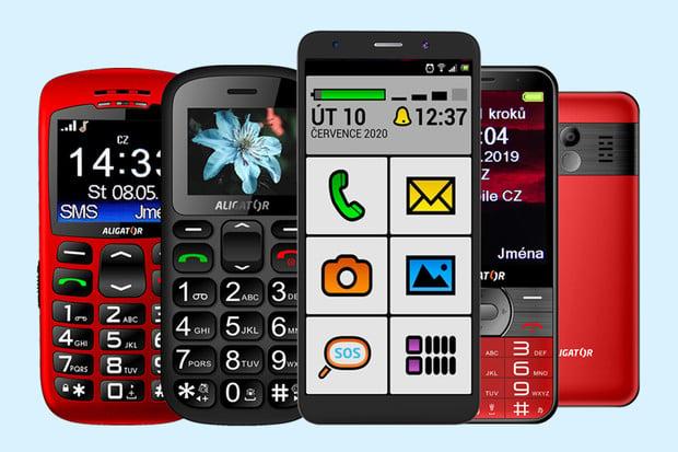 Mobilní telefony Aligator: ideální pro babičku a dědečka