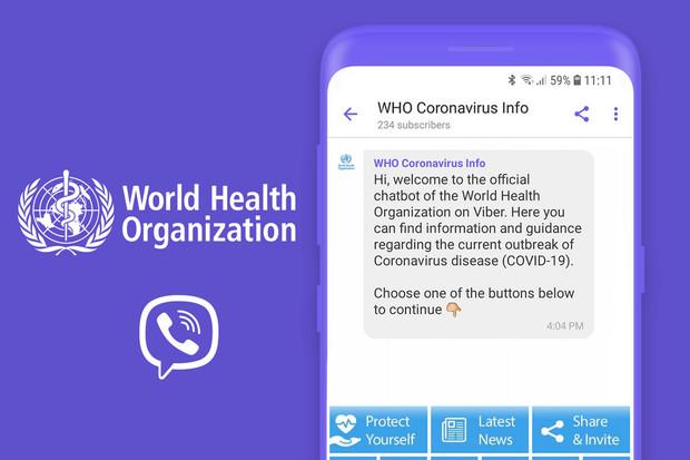 WHO a Viber se spojují v boji proti dezinformacím týkajícím se koronaviru