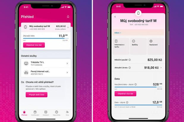Aplikace Můj T-Mobile dostává nový design i funkce