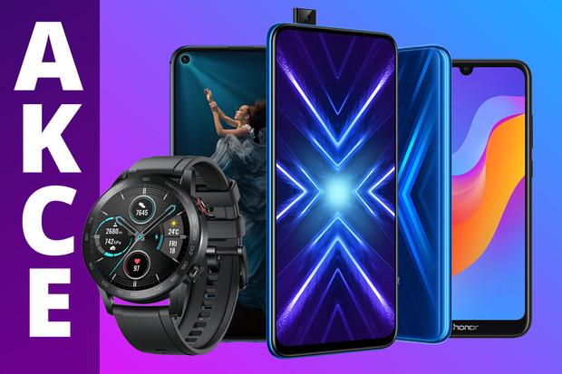 Smartphony i chytré hodinky Honor teď pořídíte za rekordně nízké ceny