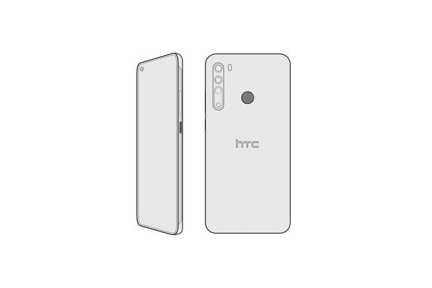 HTC Desire 20 Pro s mnoha fotoaparáty pózuje na první fotografii